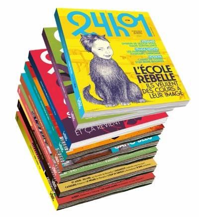 Un abonnement à la revue belge qui traite l'actualité autrement, avec du recul, des photos et des dessins. 4 numéro soit 1 an de lecture et un pass L'Heure d'Eté au cinéma Galeries, 49€.  www.24h01.be