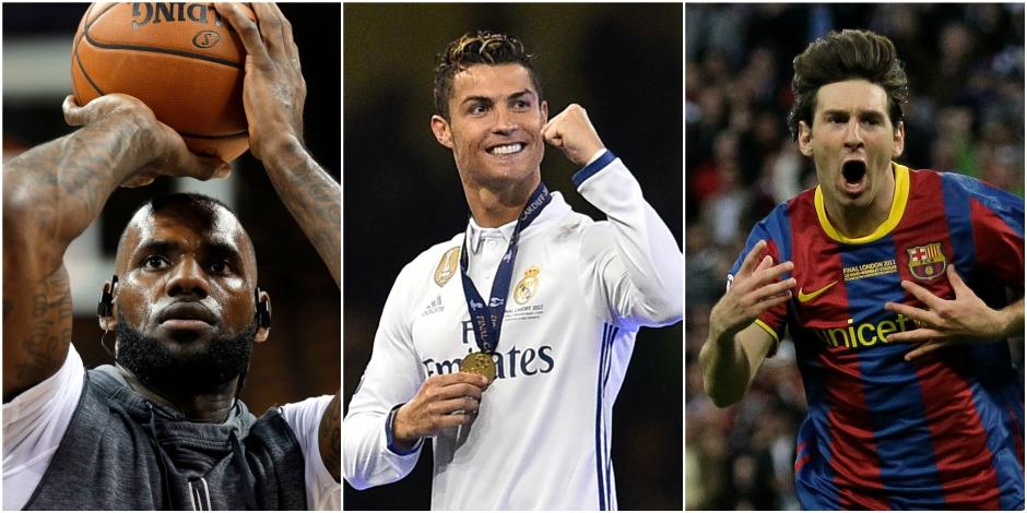 LeBron James, Ronaldo, Messi