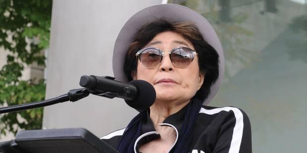 """Yoko Ono reconnue co-auteure de la chanson """"Imagine"""" de John Lennon - La Libre"""