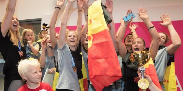 Retour festif pour les Belgian Cats après leur médaille de bronze (VIDEOS) - La Libre