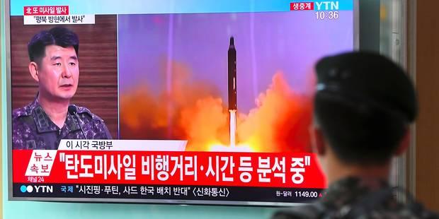 """Nouveau tir de missile nord-coréen: Trump espère """"un geste fort de la Chine"""" - La Libre"""