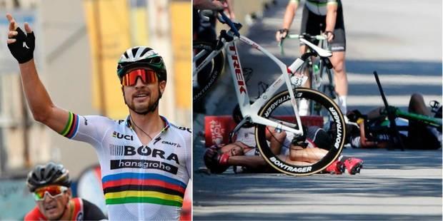 Peter Sagan exclu du Tour de France après son coup de coude à Cavendish - La Libre