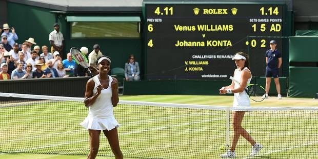 Wimbledon: Venus Williams jouera sa 9e finale à Wimbledon face à Muguruza ! - La Libre