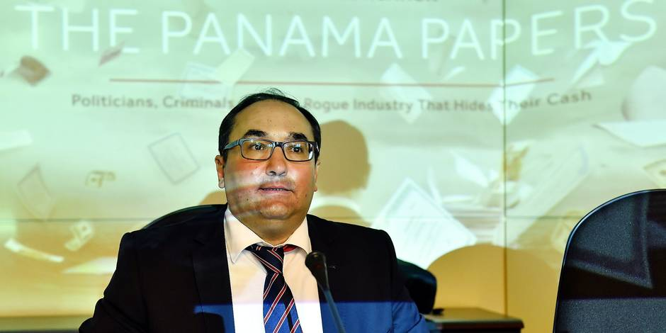 PS' Ahmed Laaouej pictured during a session of the special chamber commission international fiscal fraud regarding the Panama Papers, at the federal parliament, in Brussels, Tuesday 10 May 2016. BELGA PHOTO ERIC LALMAND