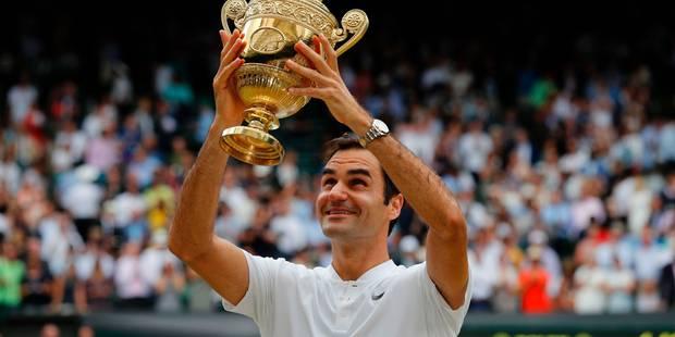 Phénoménal Federer qui réalise le grand 8 à Wimbledon et signe son 19e succès en Grand Chelem (6-3/6-1/6-4) - La Libre