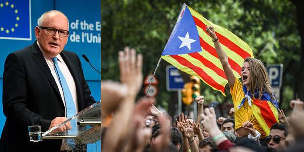"""La Commission européenne réagit à la crise en Catalogne: """"Il est grand temps de dialoguer"""" - La Libre"""