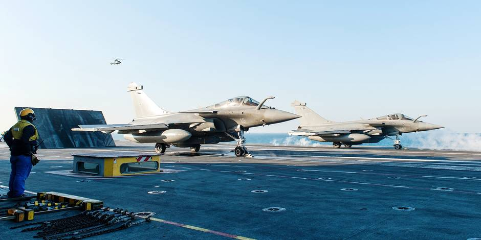 French Airstrikes Against IS Militants In Syria