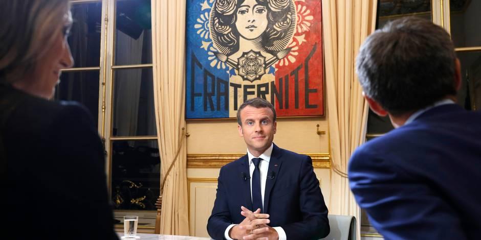 """Au JT de TF1, Macron tape sur le clou et se présente comme """"le président de la vérité"""": """"Je fais ce que je dis"""""""