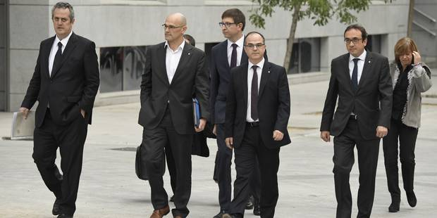 Catalogne: le parquet requiert la prison pour 8 dirigeants indépendantistes - La Libre