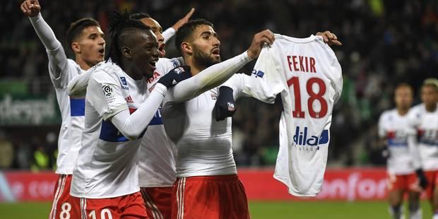 Lyon humilie Saint-Etienne (0-5), Fekir provoque la colère des supporters adverses (VIDEO) - La Libre