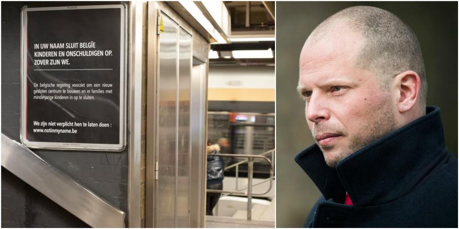 """Theo Francken réagit au quart de tour à la campagne des activistes dans les stations et gares: """"Désinformation"""""""