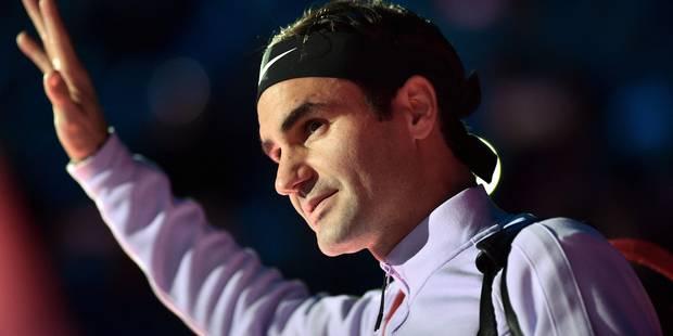 """Roger Federer: """"Je préfère jouer contre Goffin que contre Thiem"""" - La Libre"""