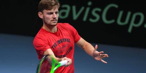 Finale de la Coupe Davis : Les premiers coups de raquette de David Goffin à Lille (VIDEOS) - La Libre