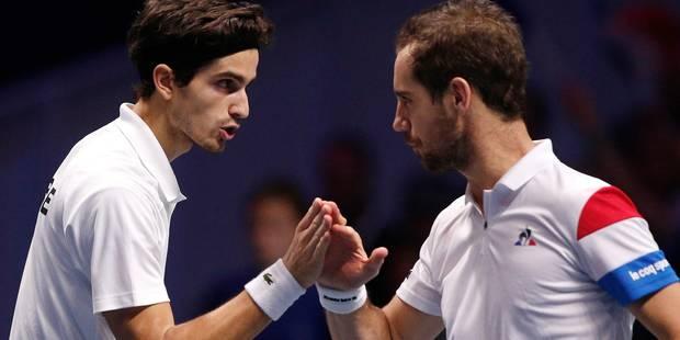 Finale de Coupe Davis: la paire française remporte le double en quatre sets (6-1, 3-6, 7-6, 6-4), la Belgique condamnée ...