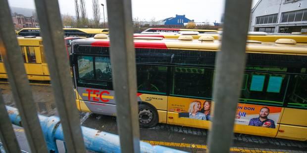 Grève du service public en Wallonie: le réseau TEC fortement perturbé - La Libre