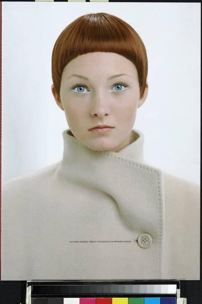 Richard Avedon pour Max Mara Automne-Hiver 98/99. Modèle : Maggie Rizer.