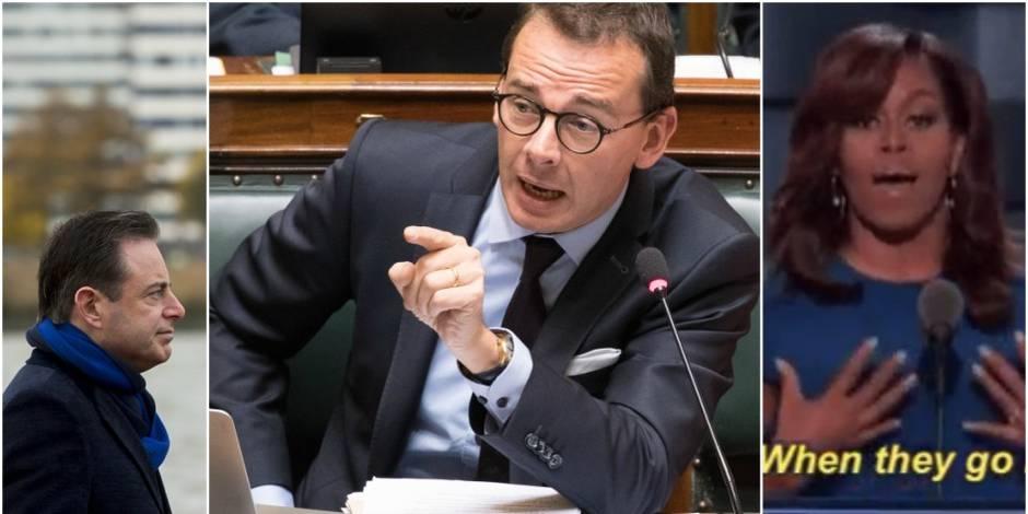 De Wever défend Francken avec humour. Et pour lui répondre, Wouter Beke fait référence à... Michelle Obama