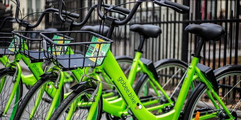 Gobee.bike arrête la location de ses vélos libre-service à Bruxelles à cause du vandalisme