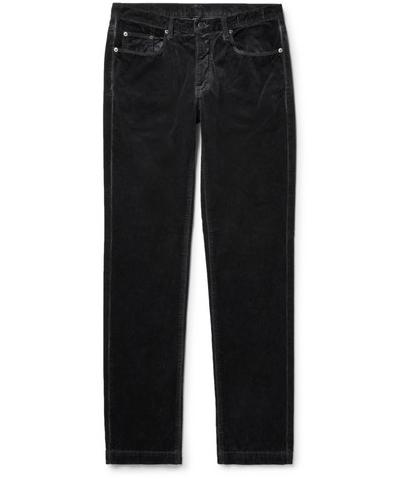Massimo Alba. Slim-Fit Cotton-Velvet Trousers.       305 euros.