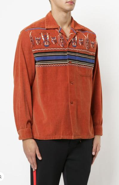 Fake Alpha Vintage. Chemise à motif tribal.                  826 euros.