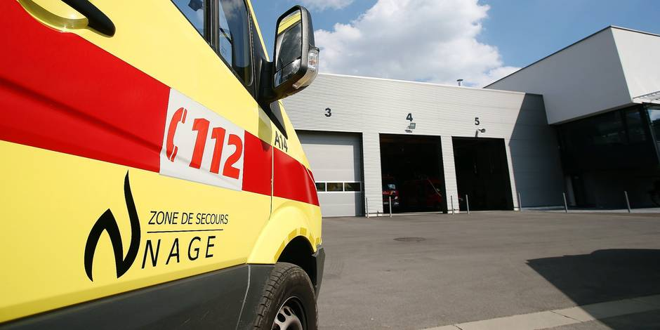 20150911 - JAMBES, BELGIUM: Illustration picture shows the inauguration of the new fire station of the Namur fire brigade, in Jambes, Friday 11 September 2015. BELGA PHOTO BRUNO FAHY