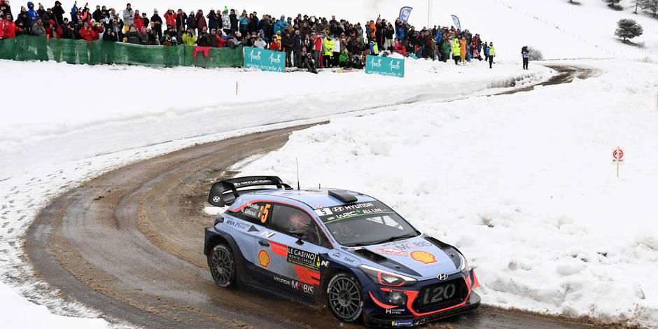 Rallye de Monte Carlo: Thierry Neuville remporte les deux dernières spéciales samedi et remonte à la 7e place