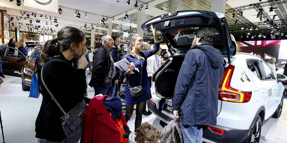 Illustration picture shows the 96th edition of the Brussels Motor Show, at Brussels Expo, on Sunday 14 January 2018, in Brussels. BELGA PHOTO NICOLAS MAETERLINCK