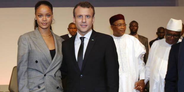 Macron et Rihanna se retrouvent au Sénégal pour parler éducation (PHOTOS) - La Libre