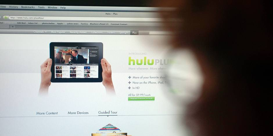 File image: The popular Hulu website showing videos and clips of television shows and films is seen on Wednesday, August 18, 2010. Hulu is reported to be in talks to sell a stake in itself to Time Warner. ( Richard B. Levine) Reporters / Photoshot