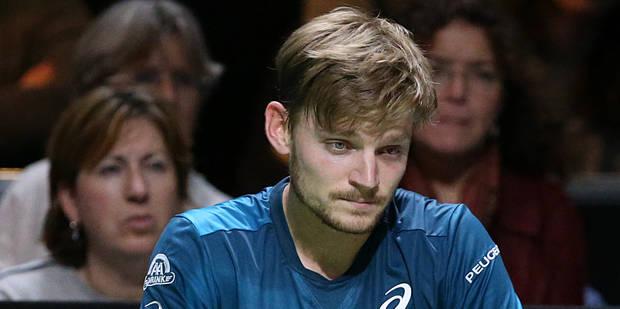 Après avoir reçu une balle dans l'œil face à Dimitrov, Goffin abandonne dans sa demi-finale à Rotterdam (VIDEO)