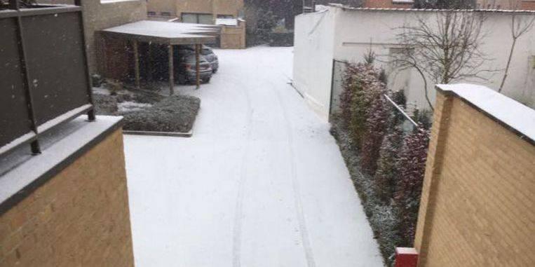 Météo : de la neige industrielle est tombée en Flandre