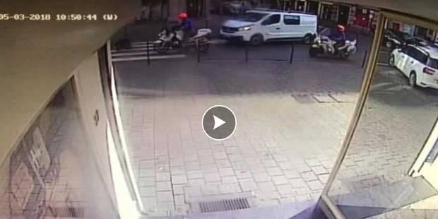 Anderlecht : un motard de la police renverse une piétonne (Vidéo) - La Libre