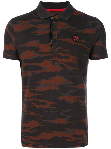 Diesel, Camouflage Print Polo Shirt,       97 euros.