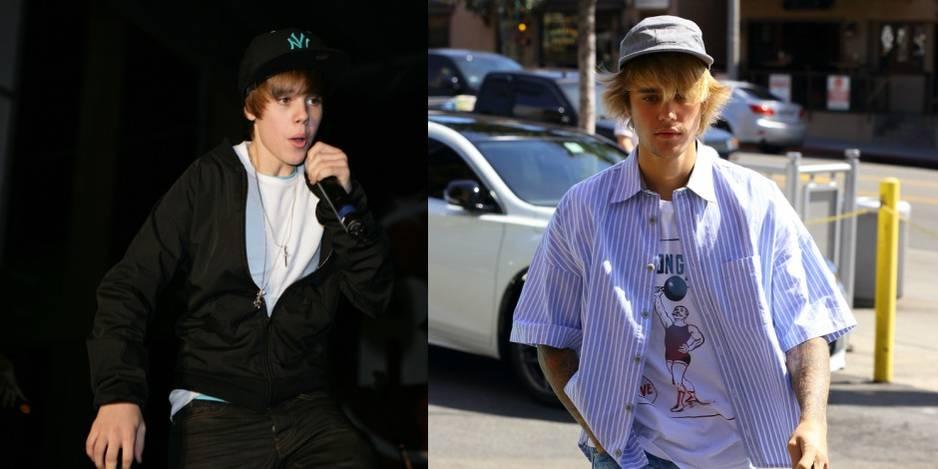 Justin Bieber quand il a commencé dans la chanson, il y a presque 10 ans.