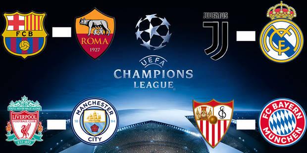 Juventus-Real Madrid et Liverpool-Manchester City au programme des quarts de finale de la Ligue des Champions - La Libre