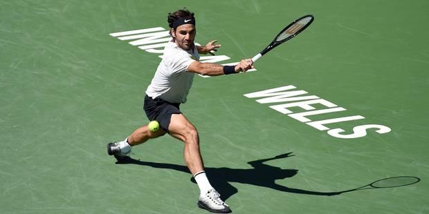 Indian Wells: Federer se fait peur mais affrontera Del Potro pour un nouveau titre - La Libre
