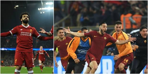 C1: La Roma renverse Barcelone (3-0) et se qualifie pour les demi-finales, Liverpool élimine Man City (1-2) - La Libre