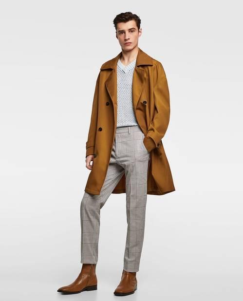 Zara. Pantalon à carreaux.                59,95 euros