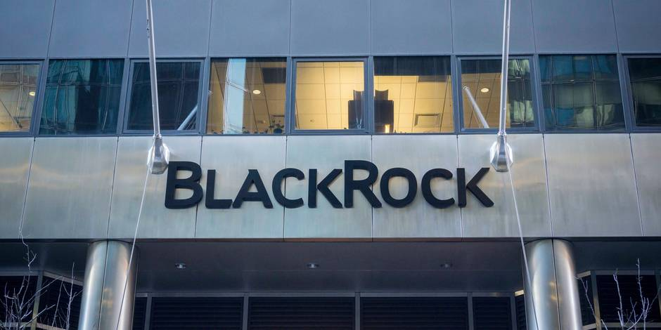 The New York headquarters of the BlackRock investment management firm on Friday, February 5, 2016. BlackRock reported first-quarter earnings that beat analysts' expectations but revenue fell below expectations. Reporters / Photoshot